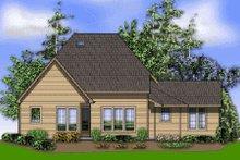 Architectural House Design - Craftsman Exterior - Rear Elevation Plan #48-372