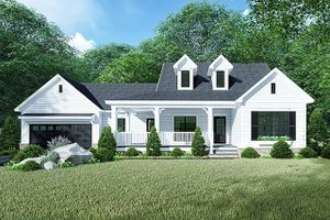 Country Exterior - Front Elevation Plan #923-128