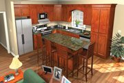 European Style House Plan - 4 Beds 3 Baths 1750 Sq/Ft Plan #21-214