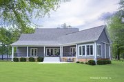 Craftsman Style House Plan - 3 Beds 2.5 Baths 2528 Sq/Ft Plan #929-962 Exterior - Rear Elevation