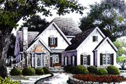 Cottage Style House Plan - 3 Beds 2.5 Baths 2424 Sq/Ft Plan #429-11 Exterior - Other Elevation