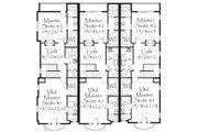 Tudor Style House Plan - 6 Beds 7.5 Baths 5642 Sq/Ft Plan #509-33 Floor Plan - Upper Floor Plan