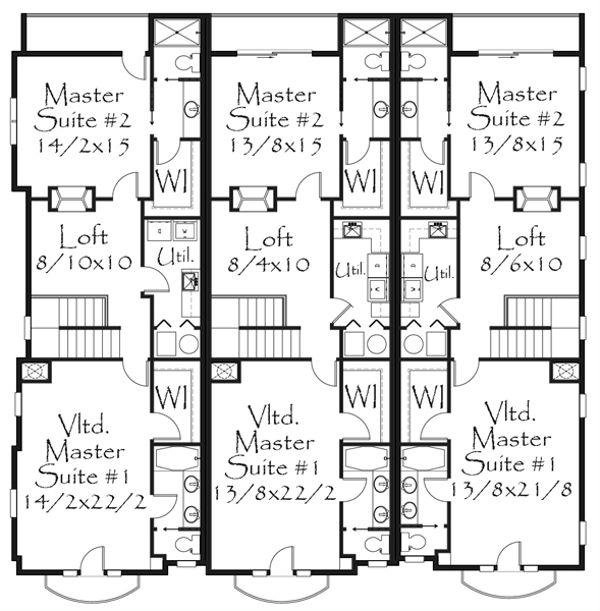 Tudor Floor Plan - Upper Floor Plan Plan #509-33