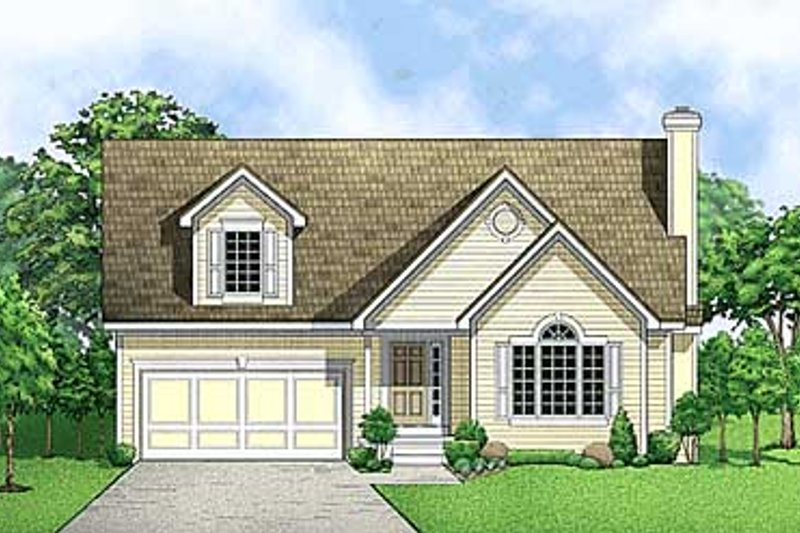 Traditional Style House Plan - 3 Beds 2.5 Baths 1465 Sq/Ft Plan #67-466 Exterior - Front Elevation
