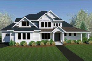 Craftsman Exterior - Front Elevation Plan #920-105