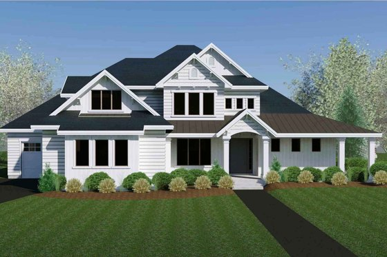 Craftsman Exterior - Front Elevation Plan #920-105