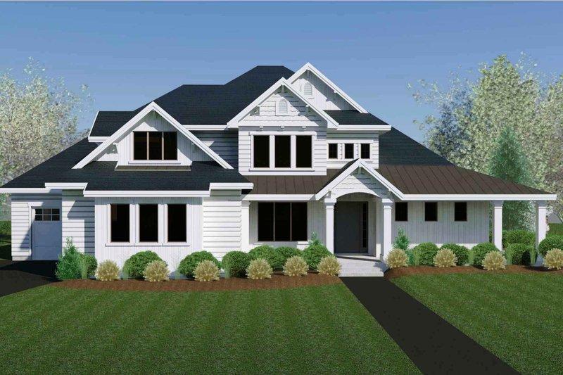 Architectural House Design - Craftsman Exterior - Front Elevation Plan #920-105