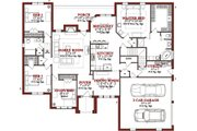 Traditional Style House Plan - 4 Beds 2.5 Baths 2486 Sq/Ft Plan #63-200 Floor Plan - Main Floor Plan