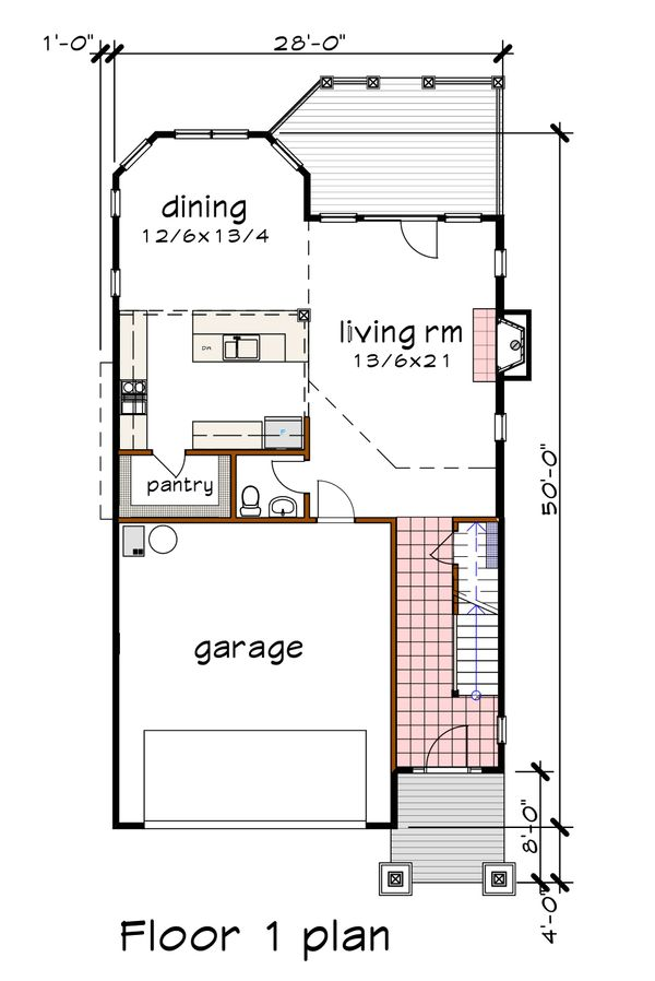 Bungalow Floor Plan - Main Floor Plan #79-275
