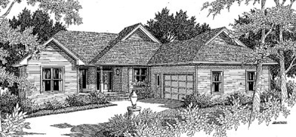 Traditional Exterior - Front Elevation Plan #41-142