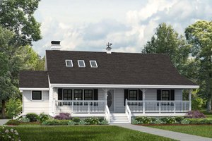 Country Exterior - Front Elevation Plan #47-645
