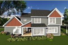 Craftsman Exterior - Rear Elevation Plan #70-1272