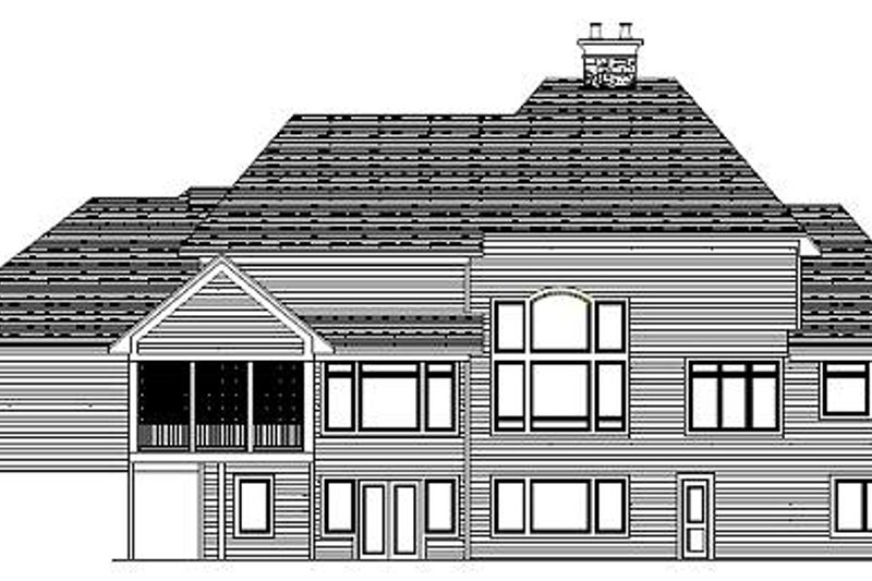 European Exterior - Rear Elevation Plan #51-371 - Houseplans.com