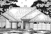 Traditional Style House Plan - 4 Beds 2 Baths 1877 Sq/Ft Plan #42-253 Exterior - Front Elevation