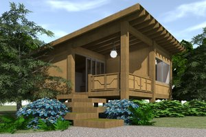 Modern Exterior - Front Elevation Plan #64-210
