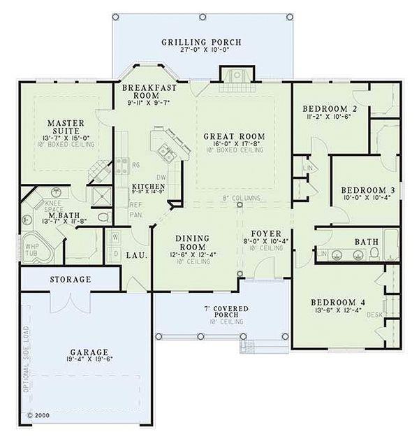 Traditional Floor Plan - Main Floor Plan Plan #17-1093