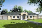 Adobe / Southwestern Style House Plan - 4 Beds 3.5 Baths 2737 Sq/Ft Plan #1-667 Exterior - Front Elevation