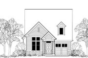 Cottage Style House Plan - 3 Beds 2.5 Baths 1454 Sq/Ft Plan #48-488 Exterior - Front Elevation