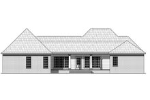 Southern Exterior - Rear Elevation Plan #21-318