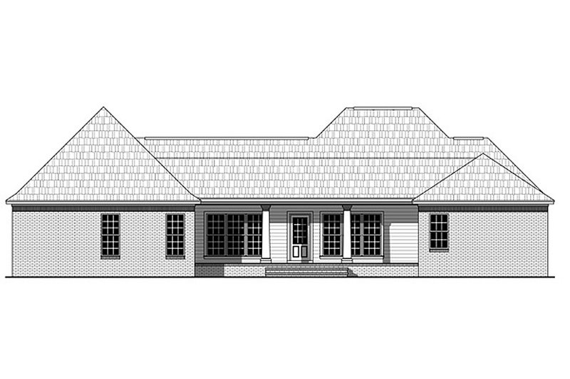 Southern Exterior - Rear Elevation Plan #21-318 - Houseplans.com