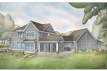 European Exterior - Rear Elevation Plan #928-342