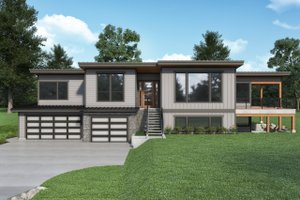 Contemporary Exterior - Front Elevation Plan #1070-136