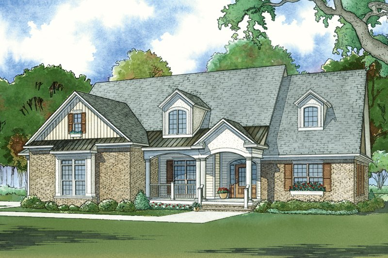 Traditional Style House Plan - 4 Beds 3 Baths 2530 Sq/Ft Plan #923-77