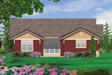 Dream House Plan - Rear View - 1900 square foot Craftsman Home