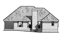 Home Plan - Traditional Exterior - Rear Elevation Plan #20-147