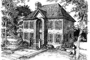 European Exterior - Front Elevation Plan #322-127