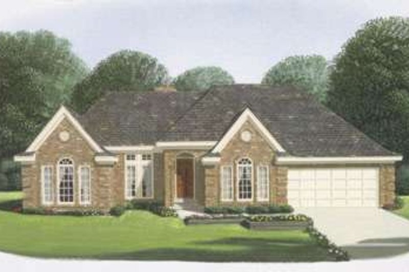 Traditional Exterior - Front Elevation Plan #410-159 - Houseplans.com