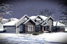 Architectural House Design - Craftsman Exterior - Front Elevation Plan #70-1471