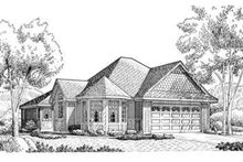 Dream House Plan - European Exterior - Front Elevation Plan #410-343