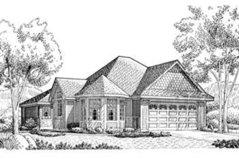 European Exterior - Front Elevation Plan #410-343