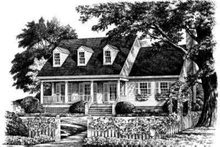 Country Exterior - Front Elevation Plan #137-217