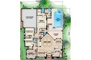 European Style House Plan - 3 Beds 3 Baths 2679 Sq/Ft Plan #27-439