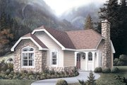 Cottage Style House Plan - 2 Beds 2 Baths 1231 Sq/Ft Plan #57-309 Exterior - Front Elevation