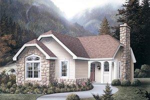 Cottage Exterior - Front Elevation Plan #57-309