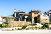 Mediterranean Style House Plan - 4 Beds 3 Baths 3583 Sq/Ft Plan #80-208
