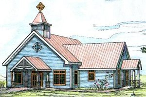 Country Exterior - Front Elevation Plan #117-583