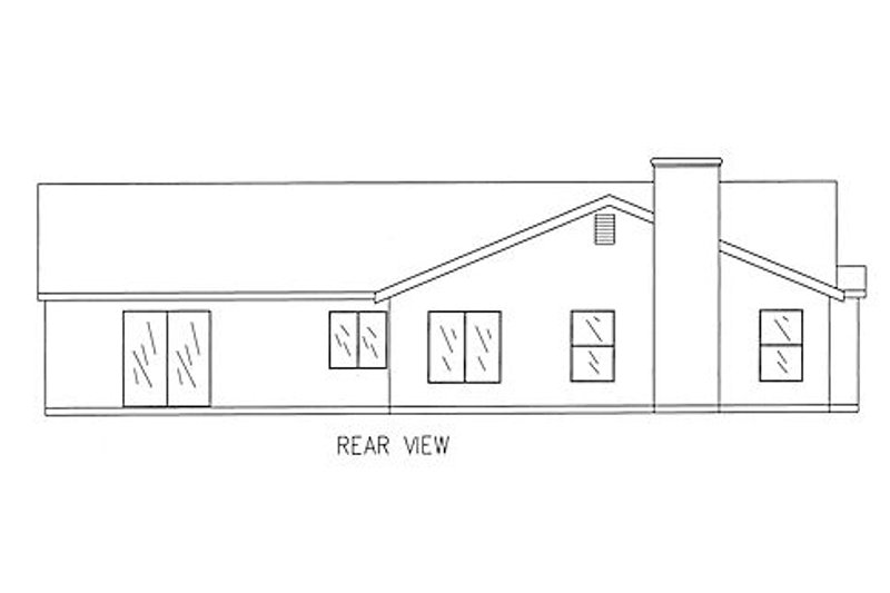 Country Exterior - Rear Elevation Plan #437-20 - Houseplans.com