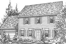 Colonial Exterior - Front Elevation Plan #320-140