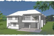 Exterior - Rear Elevation Plan #48-480
