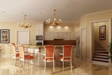 Country design with Craftsman details, kitchen