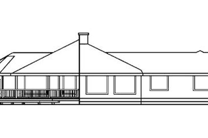 Traditional Exterior - Rear Elevation Plan #60-197 - Houseplans.com