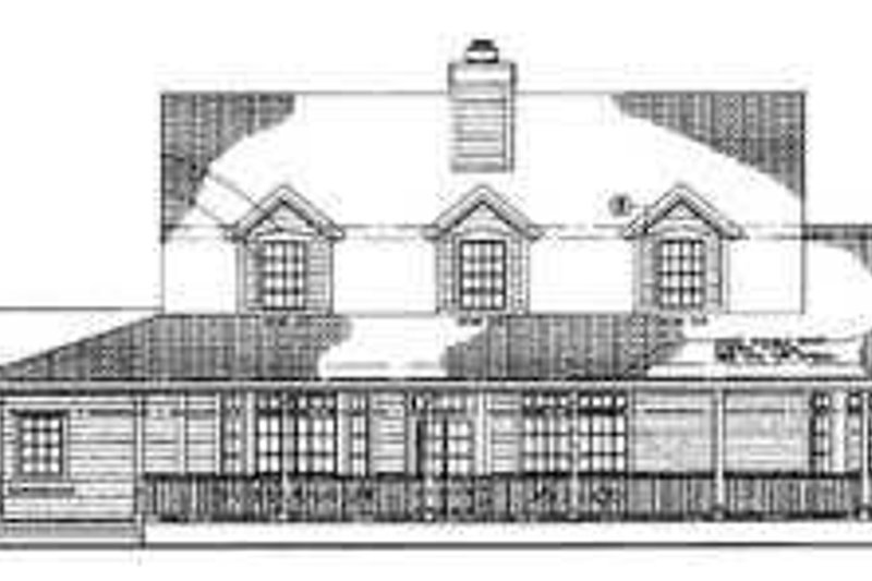 Country Exterior - Rear Elevation Plan #72-183 - Houseplans.com