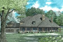 House Plan Design - European Exterior - Rear Elevation Plan #17-2538