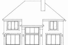 House Blueprint - Traditional Exterior - Rear Elevation Plan #72-329