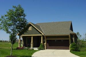 Cottage Exterior - Front Elevation Plan #20-2413
