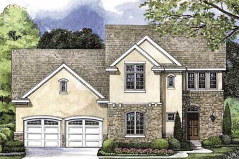 European Exterior - Front Elevation Plan #20-1403